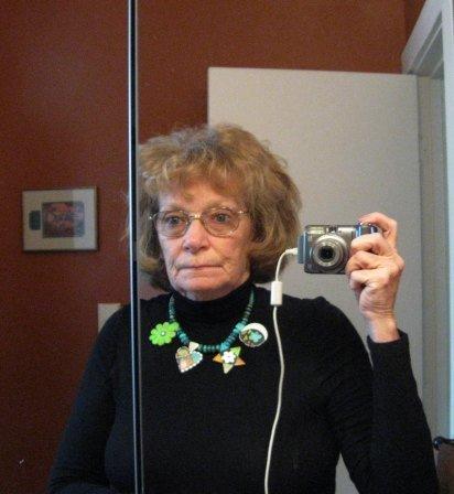 Image 9 of One of a kind Santo Domingo  Mosaic Inlay Turquoise Bead Necklace, Mary Tafoya