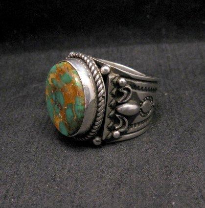 Image 1 of Big Albert Jake Navajo Native American Royston Turquoise Ring Sz13