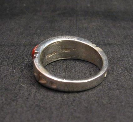 Image 4 of Native American Navajo Cobblestone Inlay Band Ring Sz11, Rick Tolino