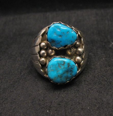Image 0 of Navajo Indian Turquoise Sterling Silver Ring sz10-7/8, Marlene Martinez