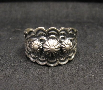 Image 0 of Bennie Ramone ~ Navajo ~ Old Pawn Style Sterling Silver Ring 9-1/4