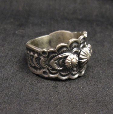 Image 1 of Bennie Ramone ~ Navajo ~ Old Pawn Style Sterling Silver Ring 9-1/4