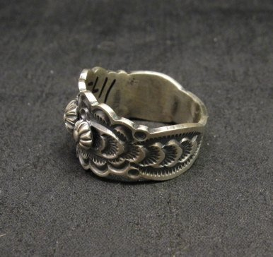Image 2 of Bennie Ramone ~ Navajo ~ Old Pawn Style Sterling Silver Ring 9-1/4
