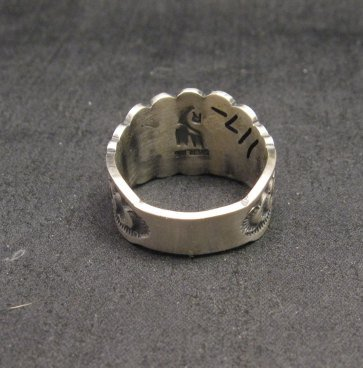 Image 3 of Bennie Ramone ~ Navajo ~ Old Pawn Style Sterling Silver Ring 9-1/4