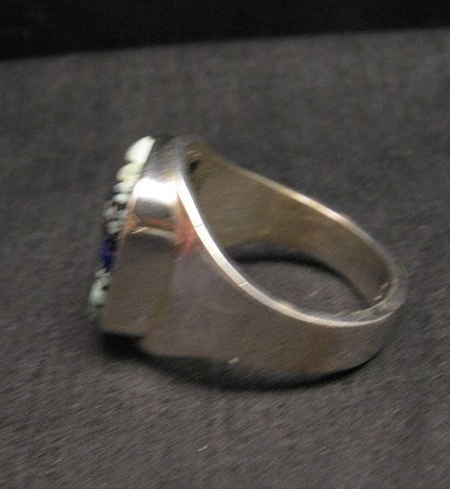 Image 4 of Native American Navajo Multigem Inlay Ring Sz14 by Albert Tapaha