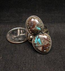 Archie Ganadonegro Navajo Double Bisbee Turquoise Ring sz7-1/2
