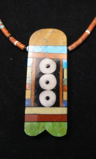 Image 0 of Big Santo Domingo Pueblo Indian Mosaic Inlay Necklace, MARY TAFOYA
