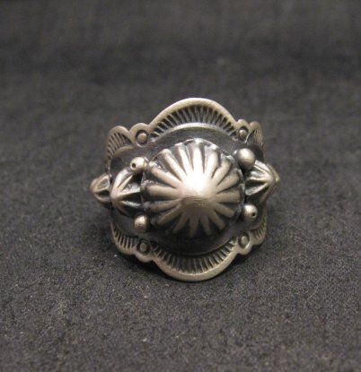 Image 0 of Gene Natan Navajo Old Pawn Style Sterling Silver Ring sz5-3/4