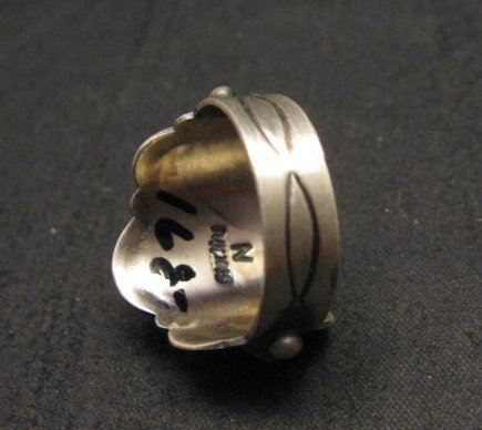 Image 3 of Gene Natan Navajo Old Pawn Style Sterling Silver Ring sz5-3/4