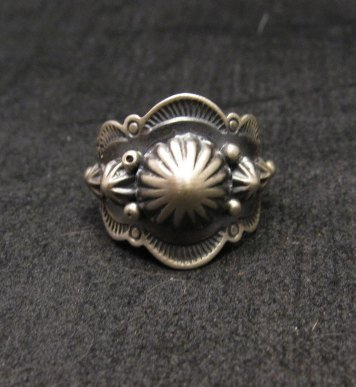 Image 0 of Gene Natan Navajo Indian Old Pawn Style Sterling Silver Ring sz6-3/4