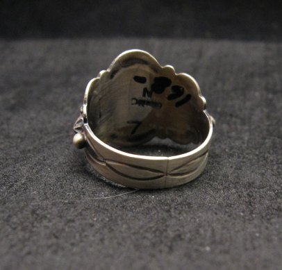 Image 3 of Gene Natan Navajo Indian Old Pawn Style Sterling Silver Ring sz6-3/4