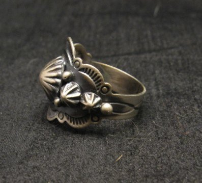 Image 4 of Gene Natan Navajo Indian Old Pawn Style Sterling Silver Ring sz6-3/4