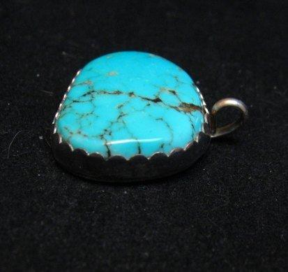 Image 1 of Vintage Southwestern Turquoise Silver Pendant
