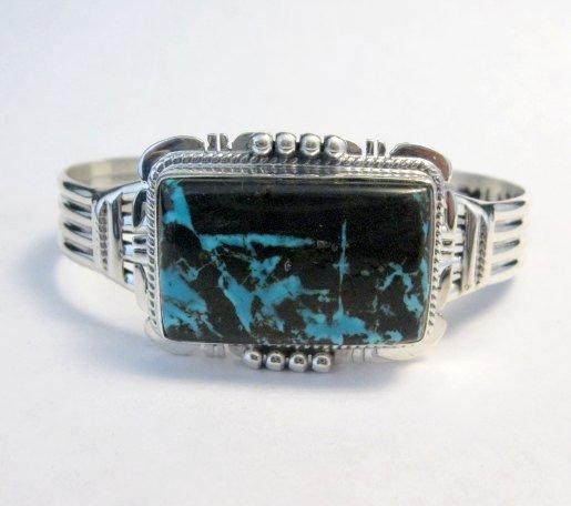 Image 0 of Navajo Native American Sunnyside Turquoise Bracelet, John Nelson