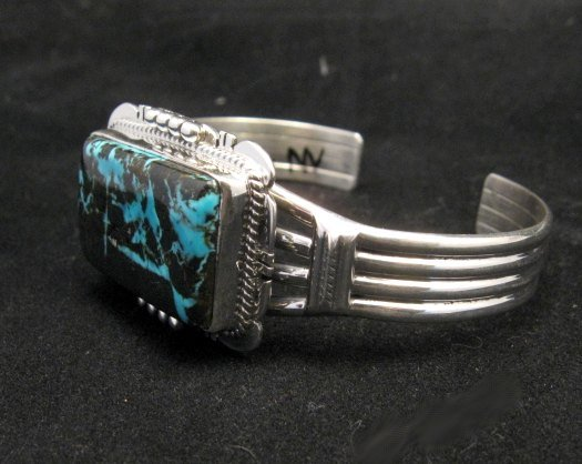 Image 3 of Navajo Native American Sunnyside Turquoise Bracelet, John Nelson