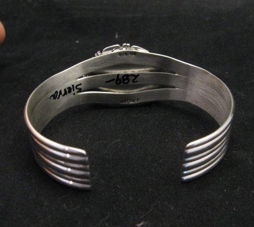 Image 5 of Navajo American Sierra Nevada Turquoise Silver Bracelet, John Nelson