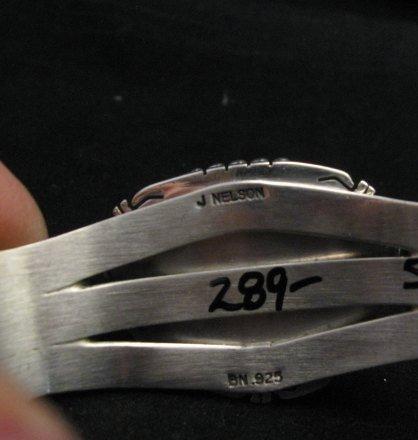 Image 6 of Navajo American Sierra Nevada Turquoise Silver Bracelet, John Nelson