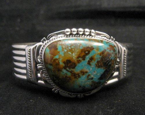 Image 1 of Navajo American Sierra Nevada Turquoise Silver Bracelet, John Nelson
