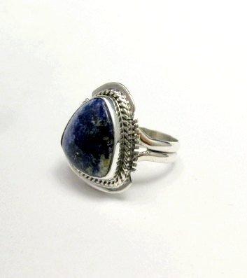 Image 3 of Navajo Native American Lapis Lazuli Ring sz6, Larson Lee