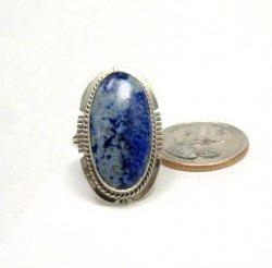 Navajo Native American Denim Lapis Ring sz8, Kathy Yazzie
