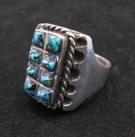 Image 1 of Vintage Turquoise Sterling Silver Ring sz10-1/2, Estate Sale