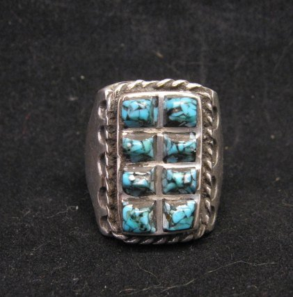 Image 7 of Vintage Turquoise Sterling Silver Ring sz10-1/2, Estate Sale