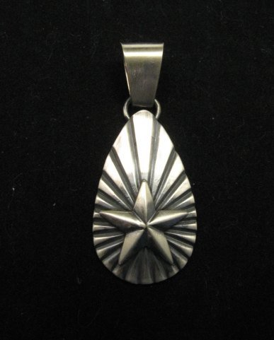 Image 0 of Old Pawn Style Navajo Sterling Silver Star Pendant, Derrick Gordon