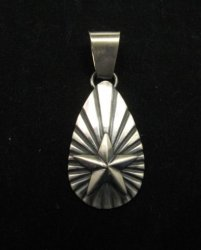 Old Pawn Style Navajo Sterling Silver Star Pendant, Derrick Gordon