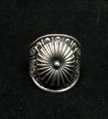 Image 0 of Old Pawn Style Navajo Sterling Silver Ring Sz12-3/4, Derrick Gordon