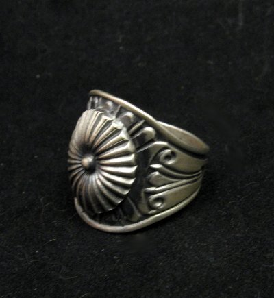 Image 1 of Old Pawn Style Navajo Sterling Silver Ring Sz12-3/4, Derrick Gordon