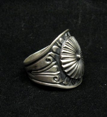 Image 2 of Old Pawn Style Navajo Sterling Silver Ring Sz12-3/4, Derrick Gordon