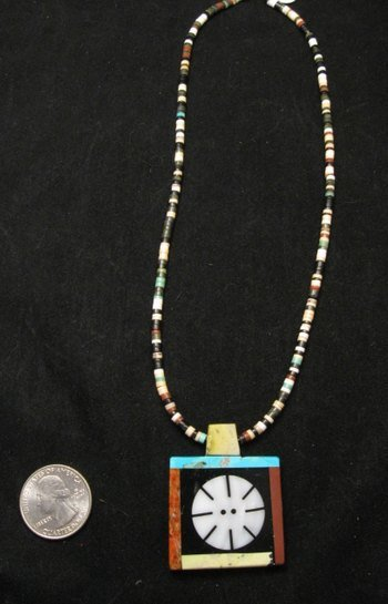Image 1 of Mary Tafoya Santo Domingo Indian Multi-Stone Inlay Necklace