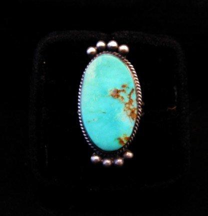 Image 0 of Navajo Native American Turquoise Silver Ring, Selena Warner, sz 6-1/2