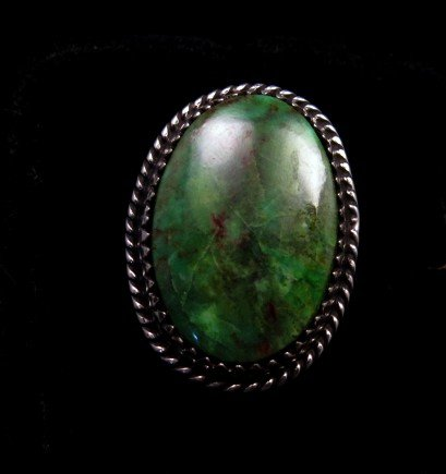 Image 0 of Archie Ganadonegro Navajo Sonoran Turquoise Ring sz7-1/2