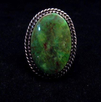 Image 1 of Archie Ganadonegro Navajo Sonoran Turquoise Ring sz7-1/2
