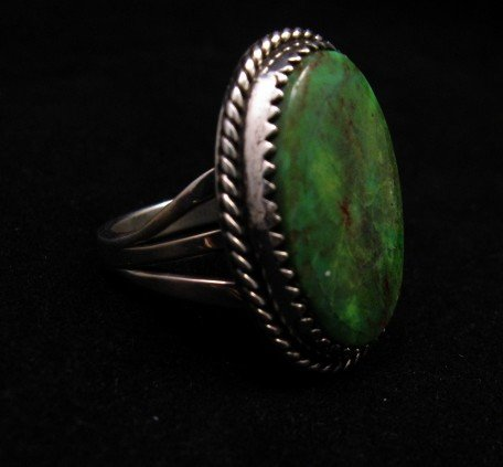 Image 2 of Archie Ganadonegro Navajo Sonoran Turquoise Ring sz7-1/2