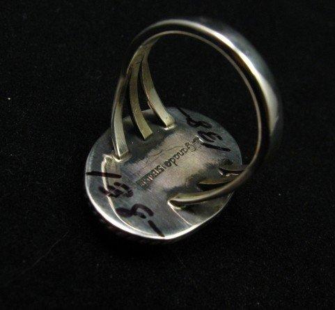 Image 4 of Archie Ganadonegro Navajo Sonoran Turquoise Ring sz7-1/2