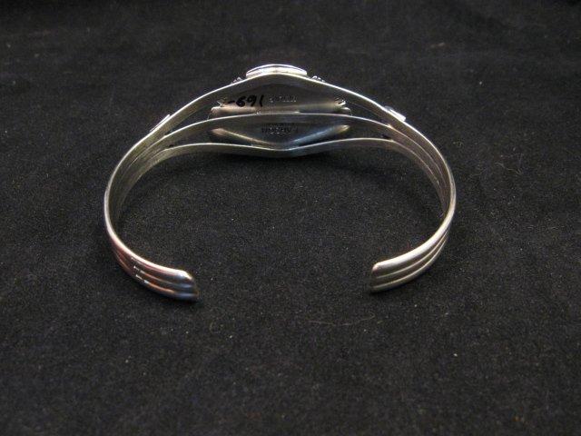 Image 5 of Navajo Native American Purple Charoite Silver Bracelet, Larson L Lee