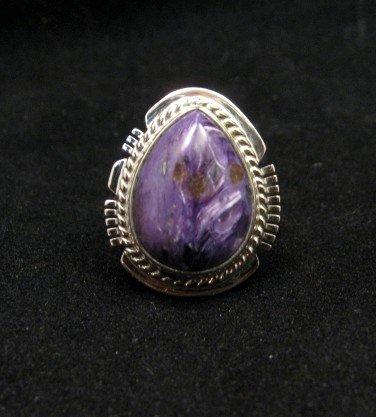 Image 0 of Navajo Native American Charoite Ring sz6-3/4, Larson Lee