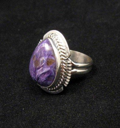 Image 1 of Navajo Native American Charoite Ring sz6-3/4, Larson Lee