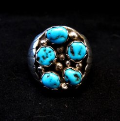 Navajo Indian Turquoise Sterling Silver Ring sz12, Marlene Martinez