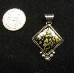 Navajo Native American Mystery Sterling Silver Pendant, Linda Yazzie