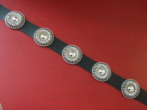 Image 2 of Thomas Charley Navajo Sterling Silver Concho Belt