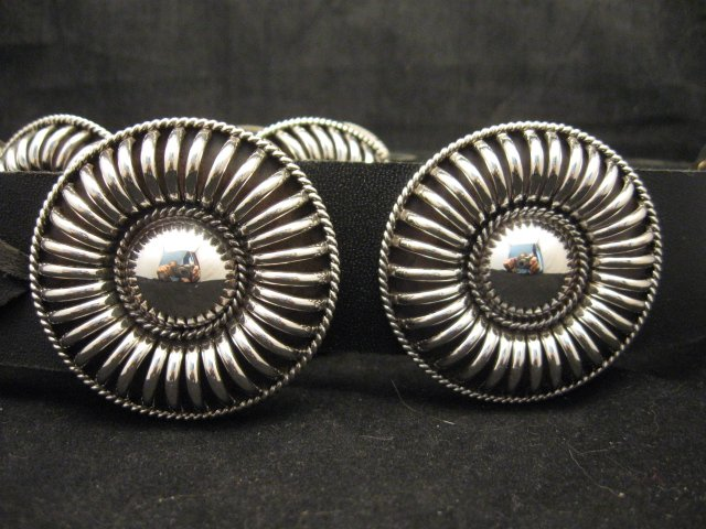 Image 0 of Thomas Charley Navajo Sterling Silver Concho Belt