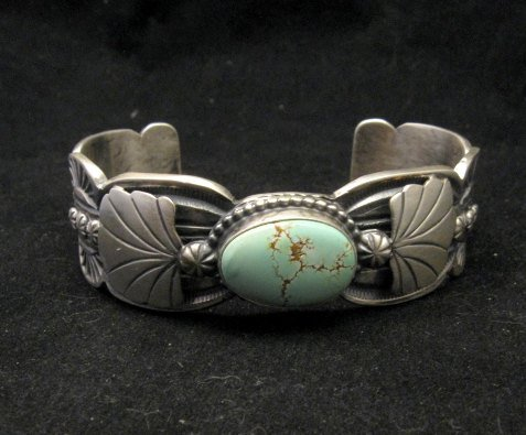 Image 0 of Navajo Native American Indian Jewelry Number 8 Turquoise Bracelet, Gilbert Tom