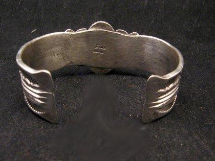 Image 4 of Navajo Native American Indian Royston Turquoise Sterling Bracelet Garret Hale
