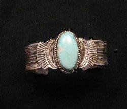 Navajo Native American Indian Royston Turquoise Sterling Bracelet Garret Hale