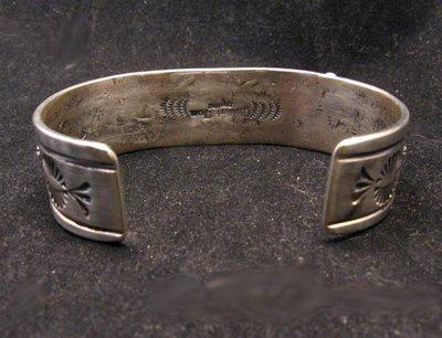 Image 5 of Navajo Native American Kingman Web Turquoise Bracelet, Gilbert Tom