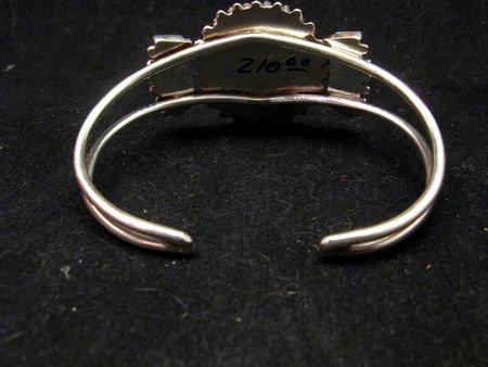 Image 4 of Zuni Petit Point Cuff Bracelet Shirley Lahi Sleeping Beauty Turquoise Cluster
