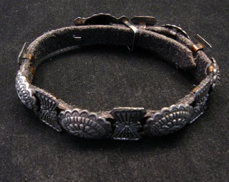 Image 2 of Dead Pawn Navajo Sterling Silver Stamped Concho Bracelet